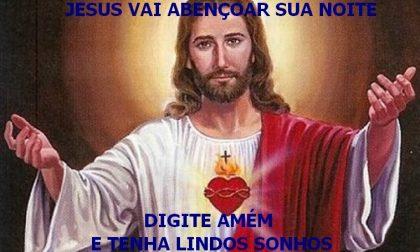 Jesus vai abençoar sua noite