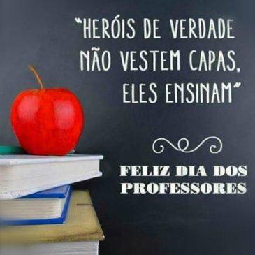 mensagem feliz dia dos professores com alegria