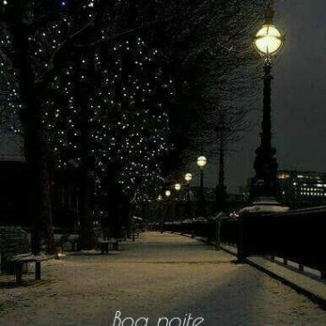 Uma noite linda e cheia de paz