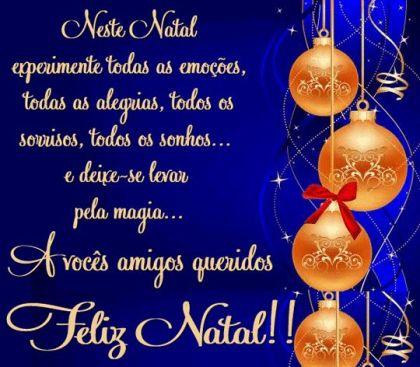 Feliz Natal para voce pessoa especial