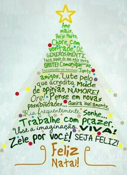 Feliz Natal recheado de paz e felicidade
