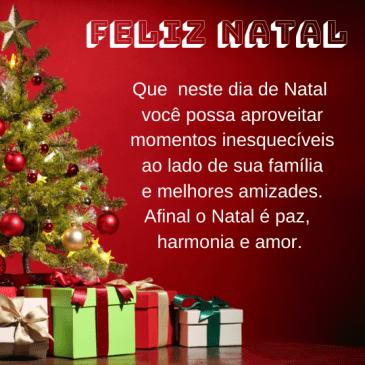 Mensagem de Feliz Natal com carinho