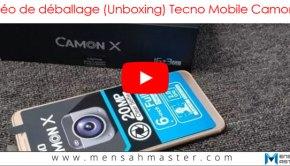Vidéo de déballage (Unboxing) du Camon X