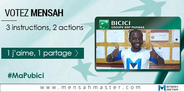 Votez Mensah, BICICI Ma pub ici