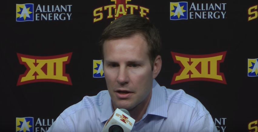 Fred Hoiberg Iowa State Horns Actions