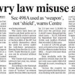 Dowry Law Misuse Alert