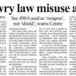 Dowry Law 498a Misuse Alert