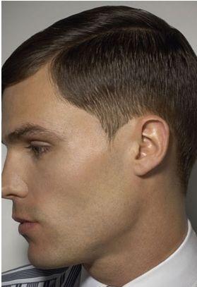 Men Extreme Short Haircuts With Side Bang