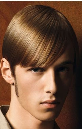 Smooth Men Hairstyle With Long Side Bang With Very