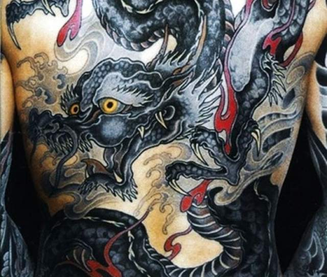 Cool Dragon Back Tattoos