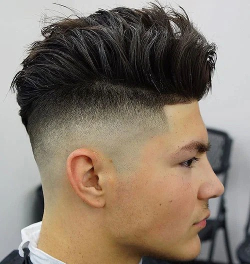Spiky Taper Fade Haircut
