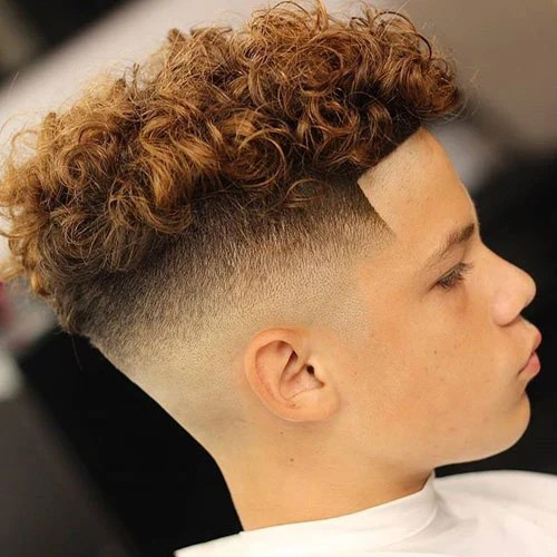 Extra High Top Fade Haircuts For Men Curly Hair