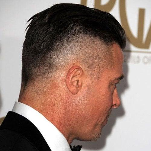 Brad Pitt Fury Hairstyle Mens Hairstyles Haircuts 2019