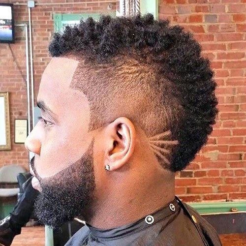 The Burst Fade Mohawk Haircut Mens Hairstyles