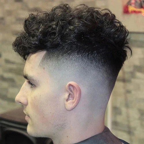 The Curly Hair Fade Mens Hairstyles Haircuts 2017