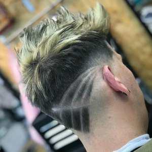 Latest 2018 Popular Neckline Hair Design Mens