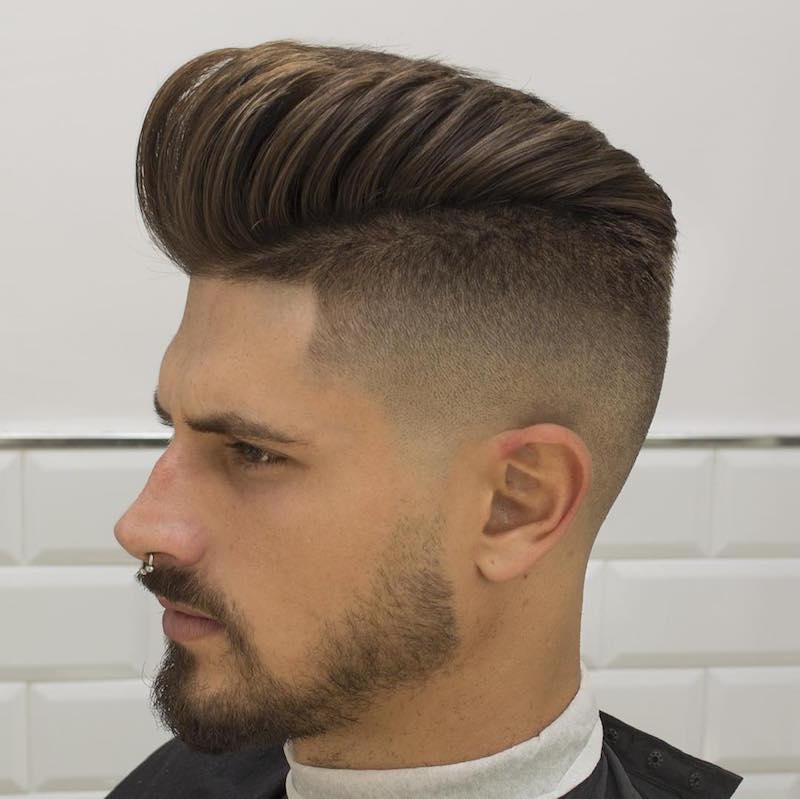 Corte de pelo fade largo