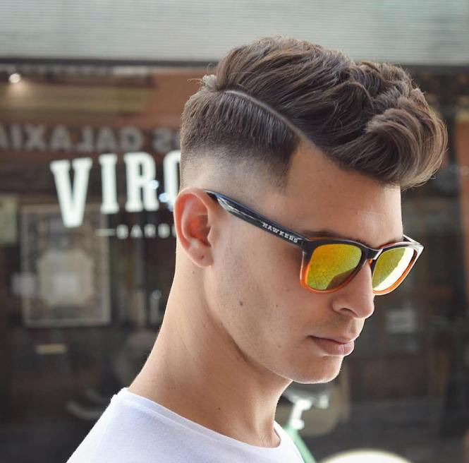 Short Haircut Mid Drop Fade