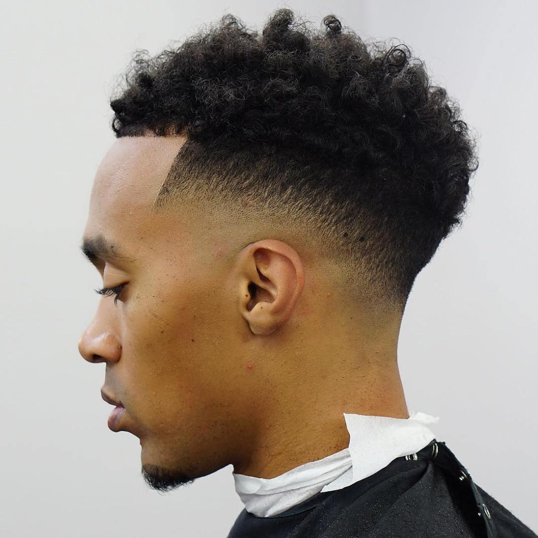 Low Fade Haircut Curly Hair