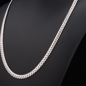 Mens Necklace - Platinum Plated
