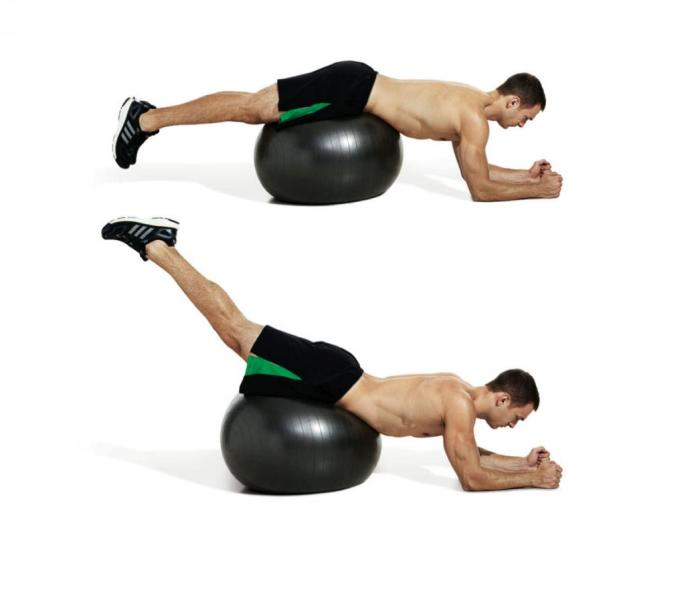 Swiss Ball Reverse Back Extension
