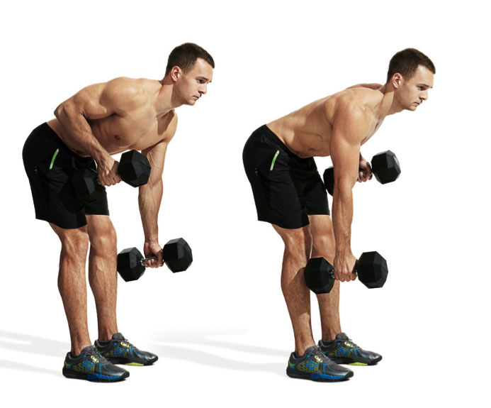 The 30 Best Back Exercises of All Time - Alternating Dumbbell Row