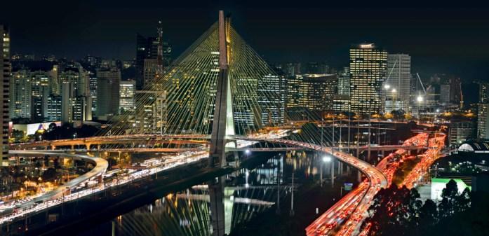 Ponte Estaiada in Sao Paulo, Brazil