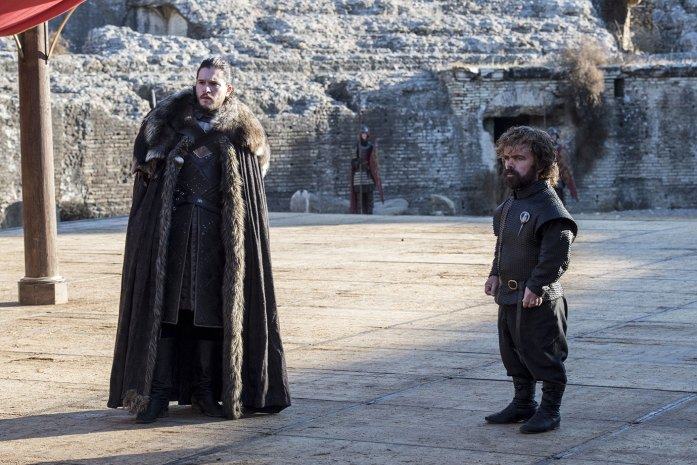 Tyrion and Jon Snow on the HBO Series Game of Thrones