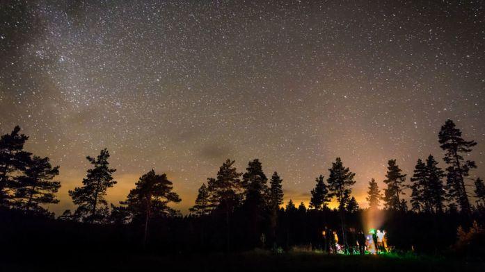 Nighttime sky in Sweden