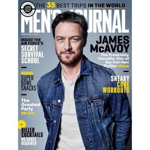 James McAvoy, Men's Journal February 2019