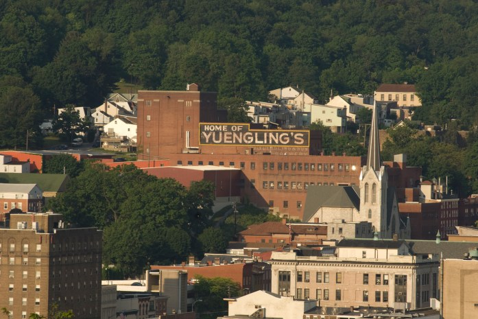 Home of Yuengling sign
