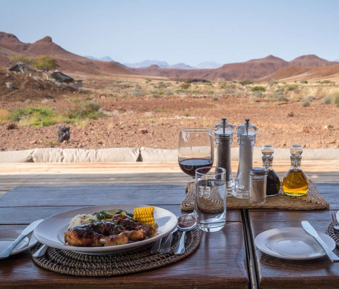 Lunch at Damaraland Camp