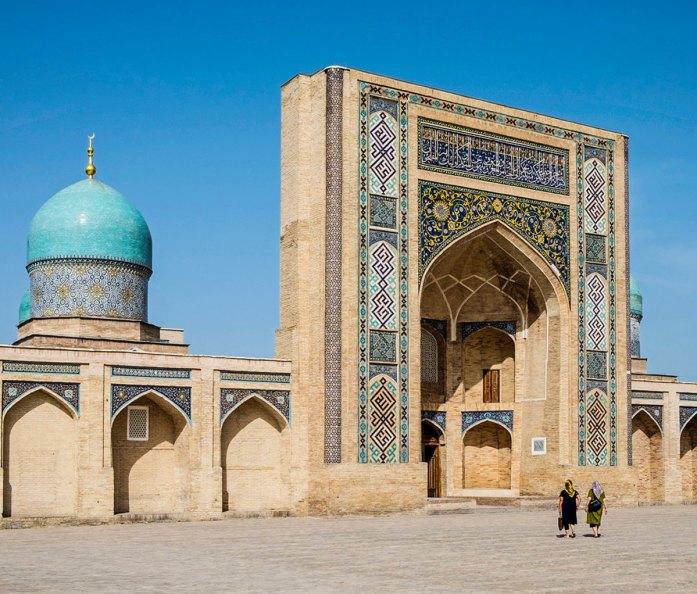 Uzbekistan, Tashkent, Exterior of Madrasa Barak Khan