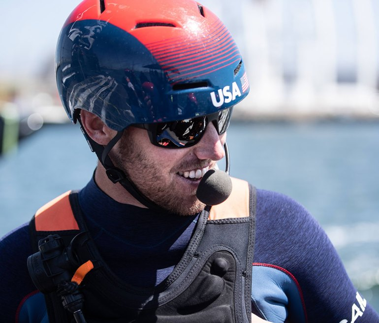 Rome Kirby, helmsman of U.S. SailGP Team