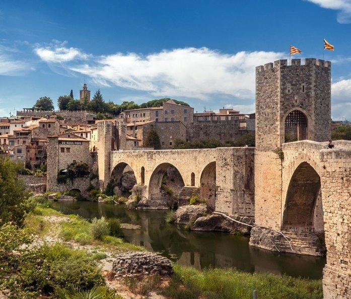 Romanesque Bridge in Besalú - Girona Spain