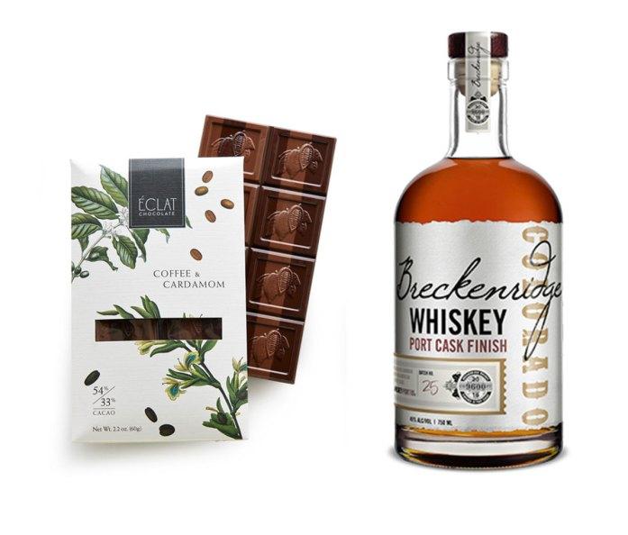 Éclat Chocolate Coffee & Cardamom + Breckenridge Port Cask Bourbon Whiskey