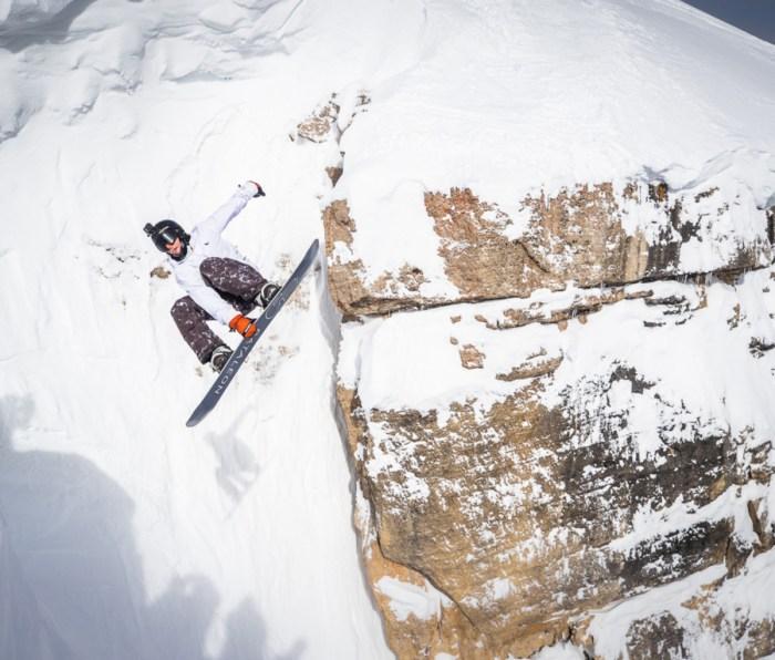 Snowboarder Grant Giller at Corbet's
