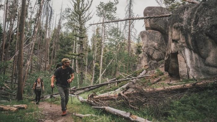 Drew Smith hiking