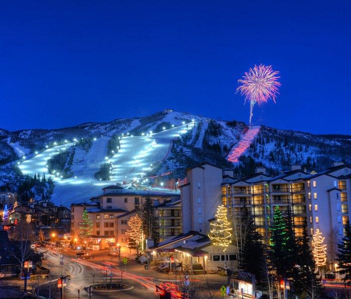Fireworks at Steamboat Ski Resort in Colorado