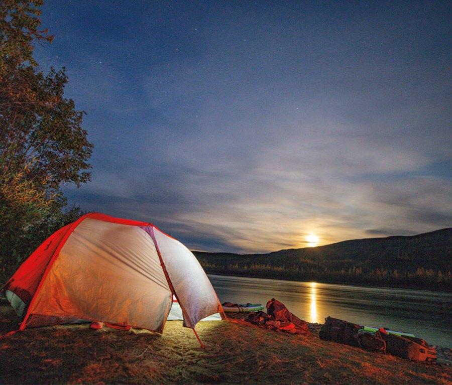 Camping along Yukon River