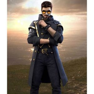 Alok Free Fire Battleground Black Leather Coat
