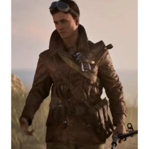 Billy Bridger Battlefield V Leather Brown Jacket