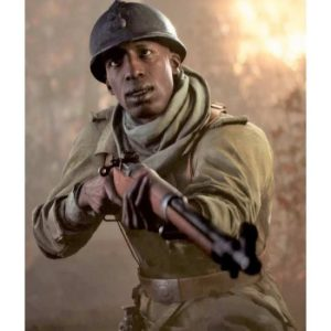 Deme Cisse Battlefield V Leather Brown Coat