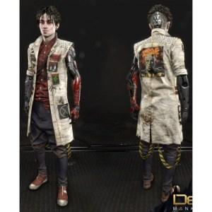 Divided Koller Deus Ex Mankind Leather White Coat