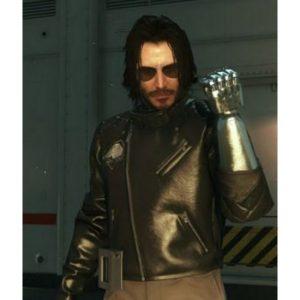 Johnny Silverhand Cyberpunk 2077 Black Leather Jacket