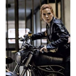 Natasha Romanoff Motorcycle Black Widow Leather Jacket