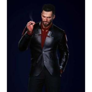 V Male Cyberpunk 2077 Black Blazer