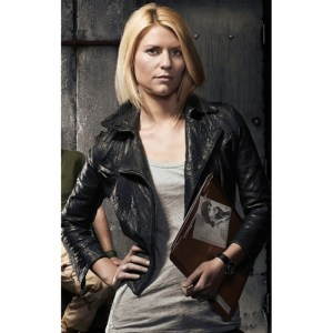 Carrie Mathison Homeland S08 Black Leather Jacket