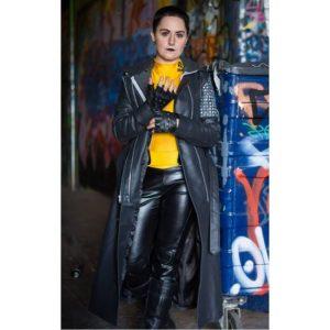 Ellie Phimister Deadpool Black Trench Coat