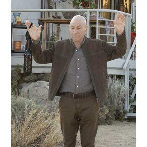 Jean-Luc Picard Start Trek Picard Brown Suede Jacket